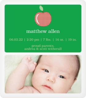 Apple Seed Birth Announcement Magnets