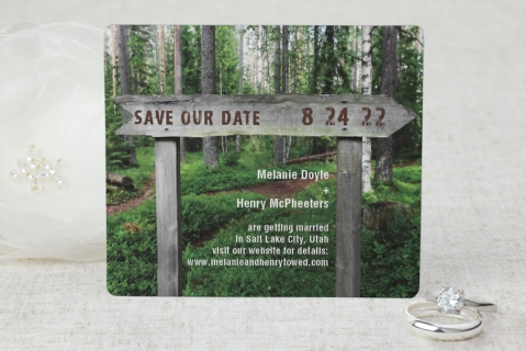 Wooden Sign Save the Date Magnets