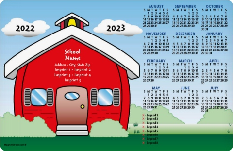 School House Drawing School Calendar Magnets