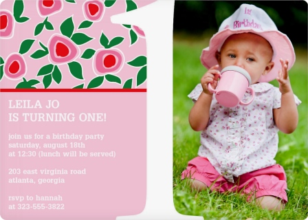 Strawberries and Shortcakes Birthday Invitation Magnets