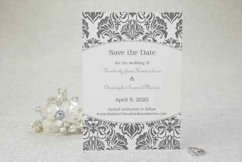 Damask Dream Save the Date Cards