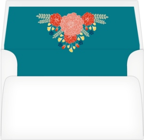 Botanical Cheer Wedding Invitation Envelope Liners