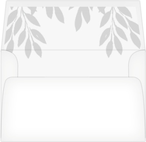 Leafy Wonder Wedding Invitation Envelope Liners