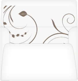 Tender Tendril Wedding Invitation Envelope Liners