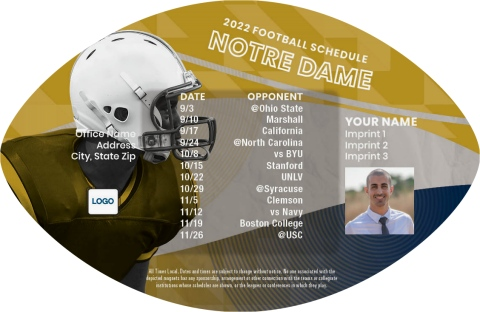 Notre Dame Football Schedule Magnets