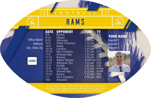 Rams Football Schedule Magnets