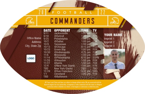 Redskins Football Schedule Magnets