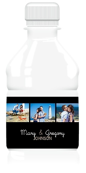 Photo Collection Wedding Water Bottle Labels