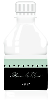 Sweet Anemone Wedding Water Bottle Labels