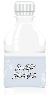 Modern Honeycomb Lace Wedding Water Bottle Labels