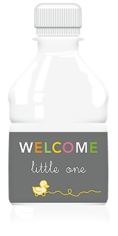 Little One Water Bottle Labels