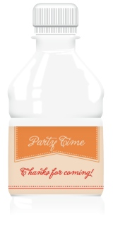Party Time Water Bottle Labels