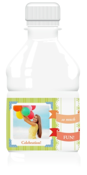 Banner Party Water Bottle Labels