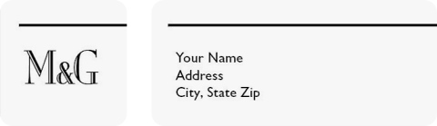 Fall in Love Return Address Labels
