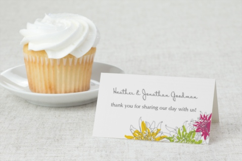 In Full Bloom Wedding Place Cards