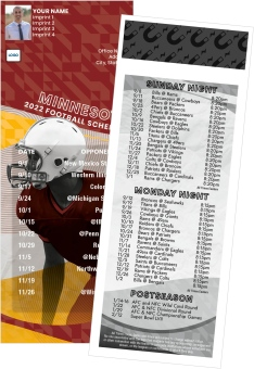 Minnesota Football Schedule Magnets