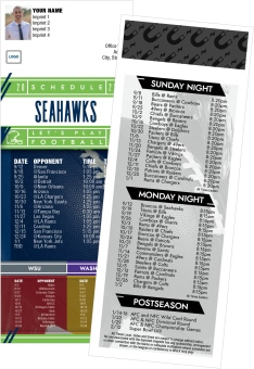 Seahawks + Washington State + University of Washington Football Schedule Magnets