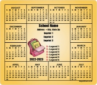 Book Bag in Center School Calendar Magnets