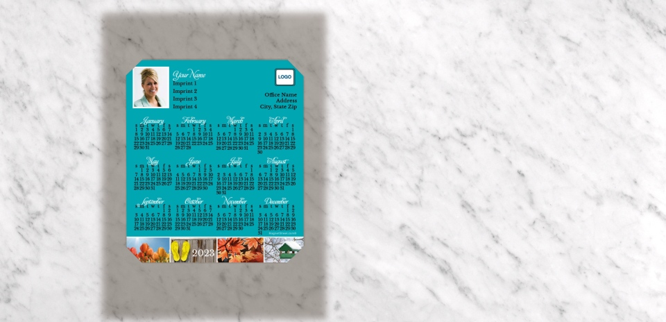 Calendar shown with Coordinating Carrier Card