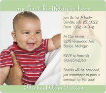 Birthday Balloons Birthday Party Invitations