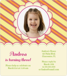 Stiches and Stripes Birthday Party Invitations
