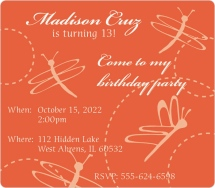 Come to My Birthday Party Birthday Invitation Magnets