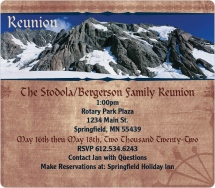 Family Mountain Reunion Reunion Invitation Magnets