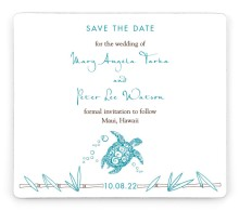 Hawaiian Turtle Save the Date Magnets
