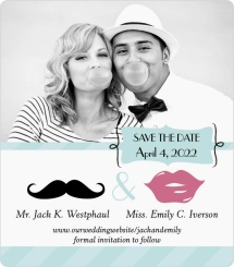 Mustache You to Wed Save the Date Magnets