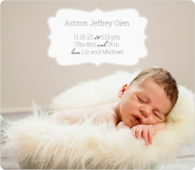 Classic Cutie Birth Announcement Magnets