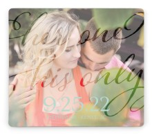 Her One His Only Save the Date Magnets