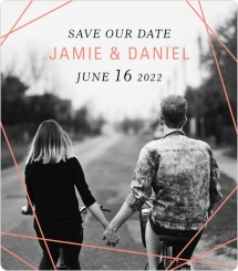 Starcrossed Love Save the Date Magnets