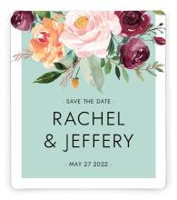 Country Florals Save the Date Magnets