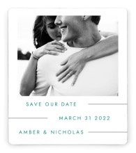 Glowing Tracks Save the Date Magnets