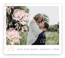 Stamped Elegance Save the Date Magnets