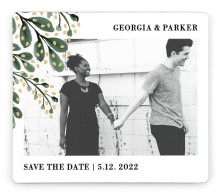 Gilded Laurels Save the Date Magnets