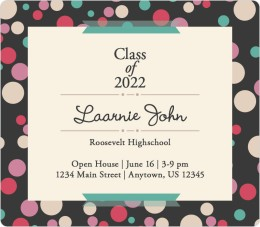Dotted Diploma Graduation Announcement Magnets