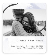 Gilded Marble Save the Date Magnets