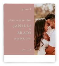 Modern Whisper Save the Date Magnets