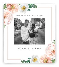 Delicate Florals Save the Date Magnets