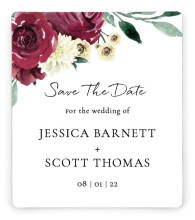 Floral Touch Save the Date Magnets