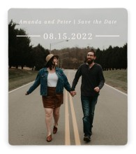 Ethereal Evergreens Save the Date Magnets