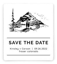Mountain Romance Save the Date Magnets