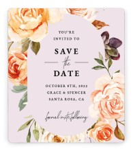 Romantic Garden Save the Date Magnets
