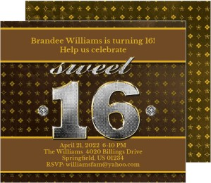 Sweet 16 Birthday Party Invitations