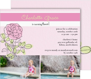 Coming Up Roses Birthday Party Invitations