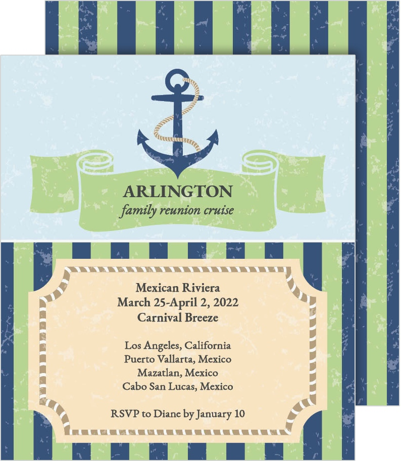 Harbor Haven Reunion Invitation Cards  Family Reunion Invitation Cards