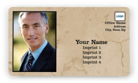 Tan Marble Magnetic Business Cards
