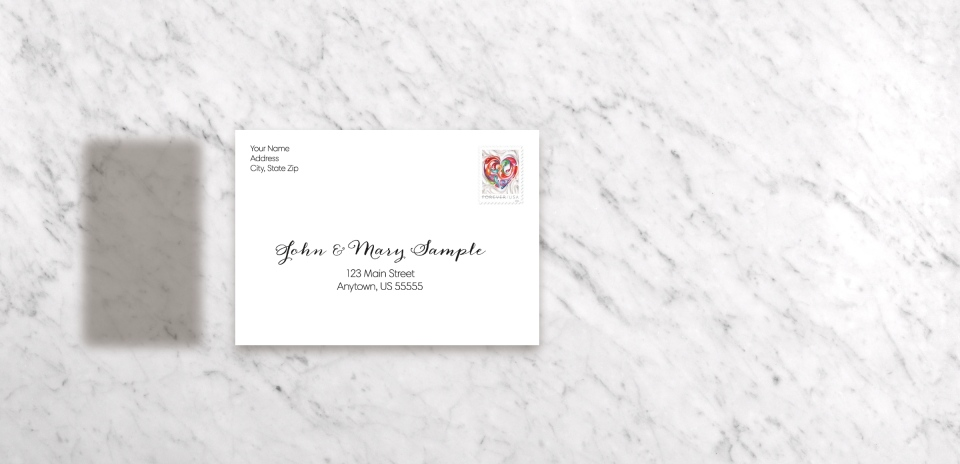 Save the Date Magnet with Optional Guest Addressing Service