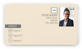 Market Leverage Magnetic Business Cards